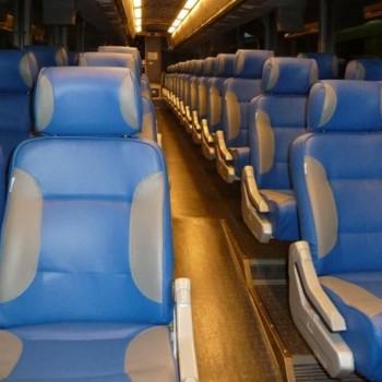 bus interior leather
