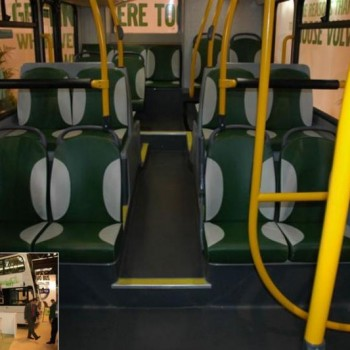 bus seats leather