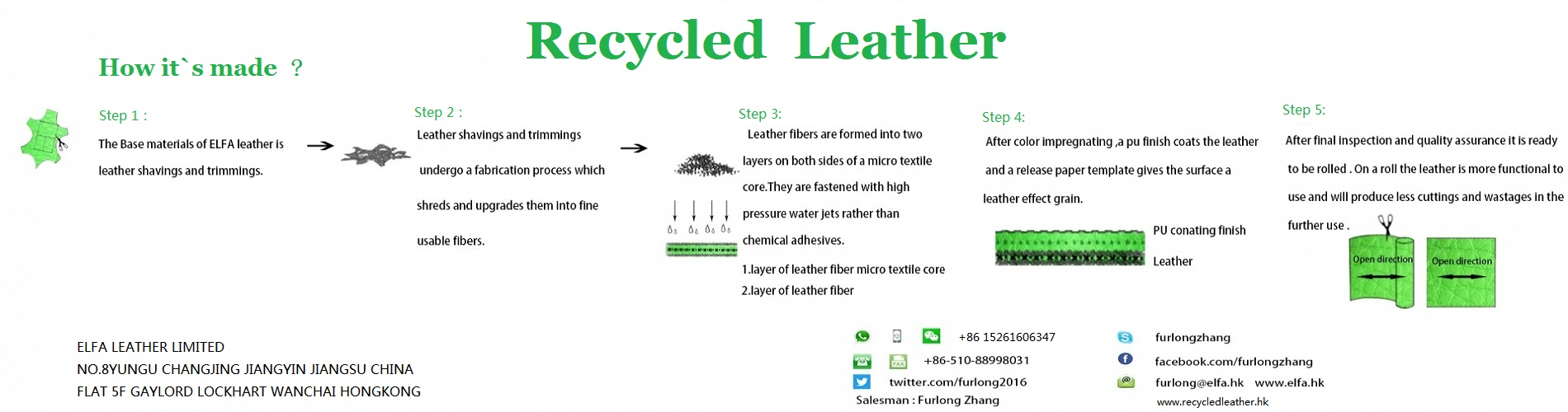 recycled leather firm